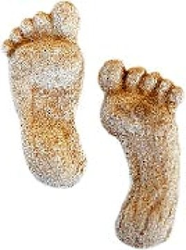 Adorable Paperweights Made from Your Child's Footprints!  (Just Sand and Plaster of Paris!)# love the sand plaster look,  not to crazy about feet no matter whose they are.