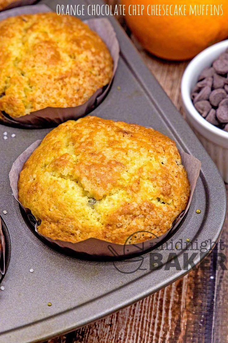Orange Chocolate Chip Cheesecake Muffins