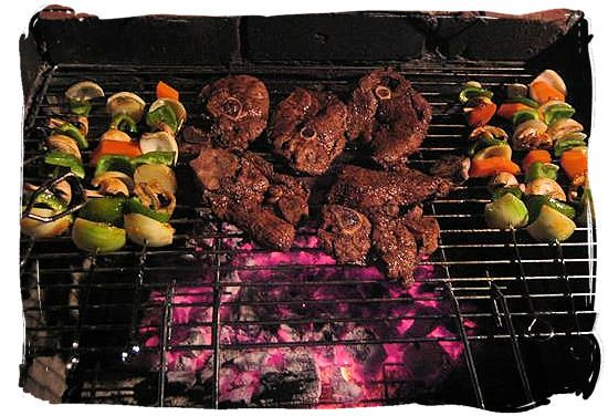 We dont slap a coupla shrimp on the barbie...we dont BBQ... we BRAAI... South African style... using gas is for wimps - nothing like the taste of a braai done on the coals...