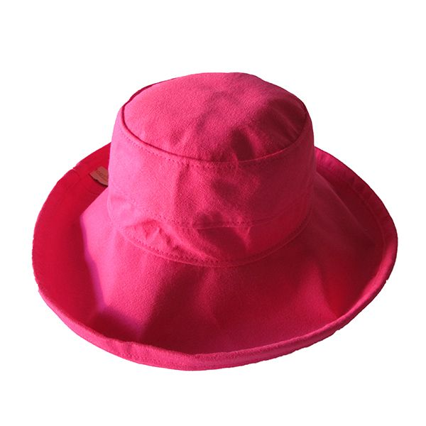 Hot Pink Cotton - Wide Brim - The Noosa Hat - Topshow - the Noosa Hat