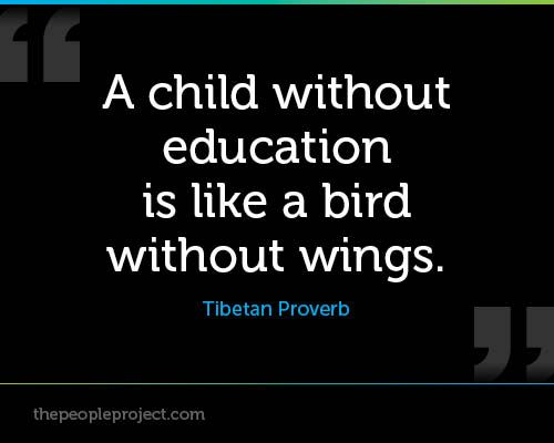 The Human Soul Is Like A Bird That Is Born In A Cage: A Child Without Education Is Like A Bird Without Wings