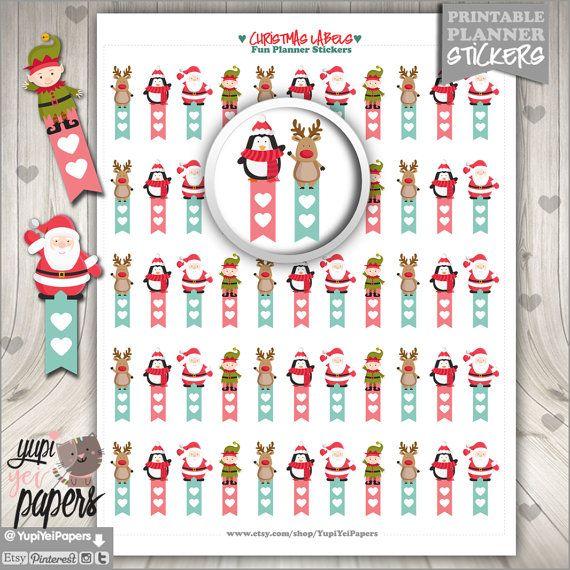 Christmas Planner Stickers, Checklist Christmas, Flags Stickers, Printable Planner Stickers, Planner Accessories, Cute Sticker, Erin Condren