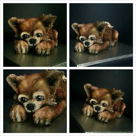 sprog the toy dog all sculptd an choc cake xxx hmmmm kaykes awesome cake!