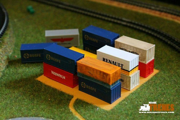 #Containers #spurn #ibertren #modelismoferroviario #modelbahn #trains www.masquetrenes.com