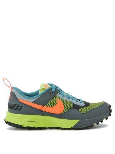 NIKE Sneaker Nike Lunarpegasus Nsw Verde-Grigio Fumo-Arancione. #nike #shoes #sneakers