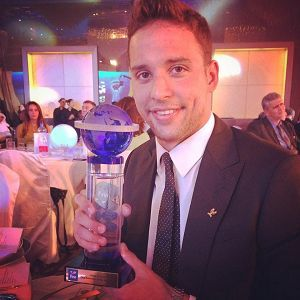 Chad le Clos, South African Sportsman of the Year, has been named as the International Swimming Federation's World Best for 2014.