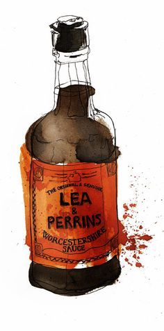 Lea & Perrins Worcestershire Sauce / Georgina Luck #grafica #illustrazione #package