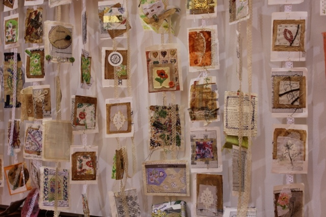 Cas Holmes Tea -Flora-Tales in Progress with thanks to loads of textiles people