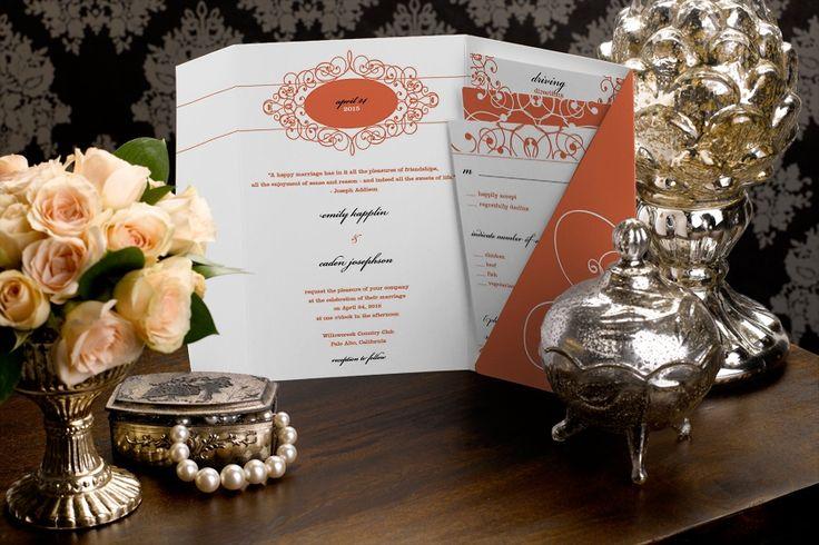 O estilo pocket também pode ser usados para convites de casamento sofisticados e tradicionais