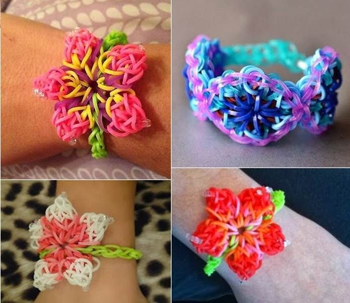 How to DIY Hibiscus Flower Rainbow Loom Pattern Bracelet | iCreativeIdeas.com Follow Us on Facebook --> https://www.facebook.com/icreativeideas
