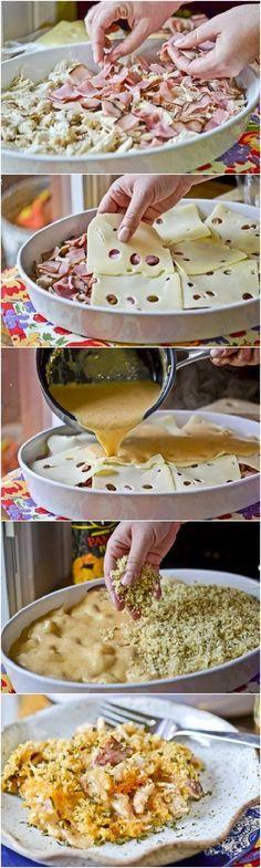 frango Cordon Bleu na Casserola !! Muito mais fácil do que a receita original e o sabor é fantástico !!