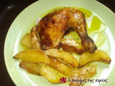 Κοτόπουλο με πορτοκάλι και μουστάρδα φούρνου