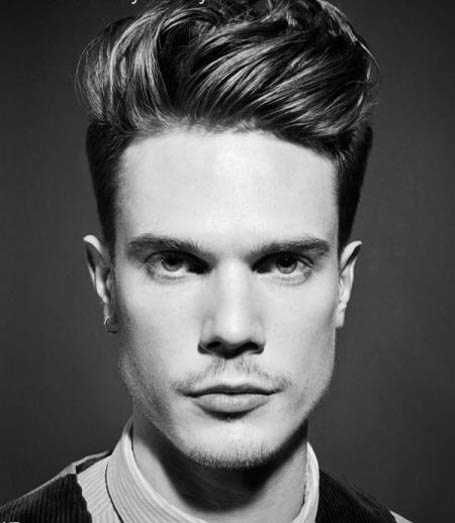 Slick Back Quiff Mens Hairstyle 2016