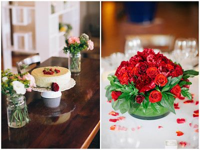 The Red Wedding - Cake and Flowers