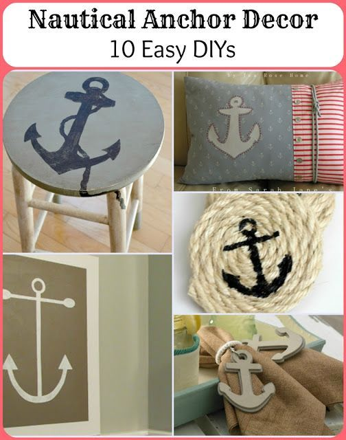 Nautical Anchor Decor - 10 Easy DIYs. For the kitchen??? -abi