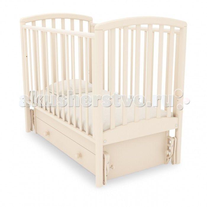 Детская кроватка Гандылян Дашенька универсальный маятник  Детская кроватка Гандылян Дашенька универсальный маятник оснащена универсальным маятниковым механизмом, позволяющим раскачивать ложе новорожденного в двух направлениях: продольном и поперечном.  Направление выбирается при сборке кроватки. Классические формы этой кроватки делают ее невероятно стильной и уютной, что не только добавляет комфорта детскому сну, но и благотворно влияет на его эстетическое воспитание.  Уникальное свойство…