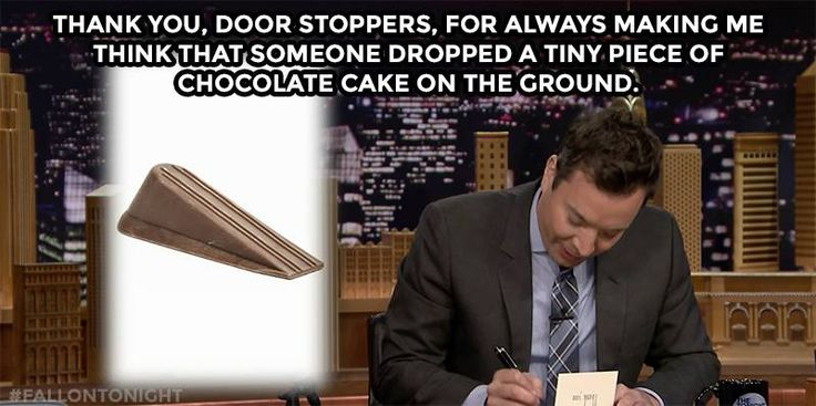 The Tonight Show Starring Jimmy Fallon Page Liked · April 30  ·  Another Thank You Note from last night:
