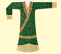 Vestimenta perteneciente a la Etnía Han.