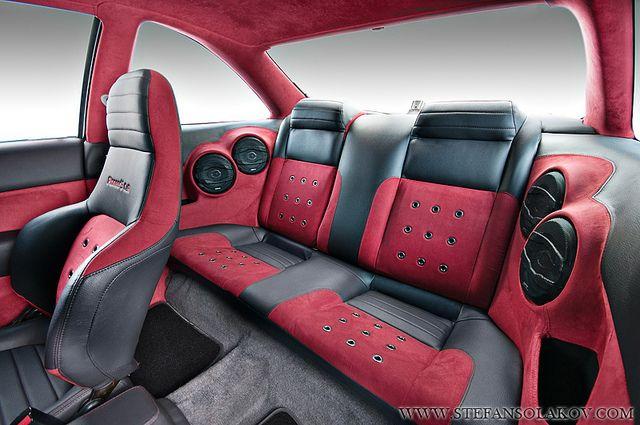 Honda Civic with custom interior