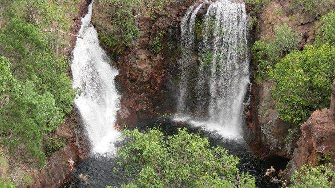 One of the best things I liked about NT is the number of waterfalls ... located in the greenery these little water spots were too good to be true !