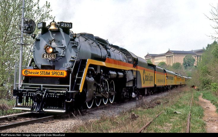 RailPictures.Net Photo: CO 2101 Chessie System Steam 4-8-4 at Philadelphia, Pennsylvania by Dale Woodland