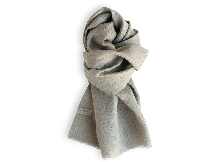 Shawl in pure Linen. Made in Sweden. Unbleached.