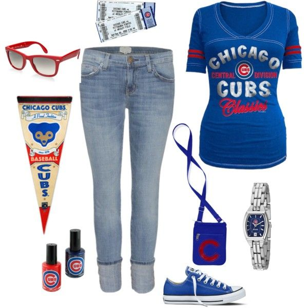 Go Cubs Go, created by laura-meiers on Polyvore