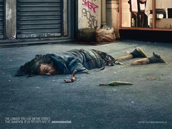 Homeless awareness campaign.