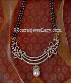 Black Beads Sets Diamond Lockets