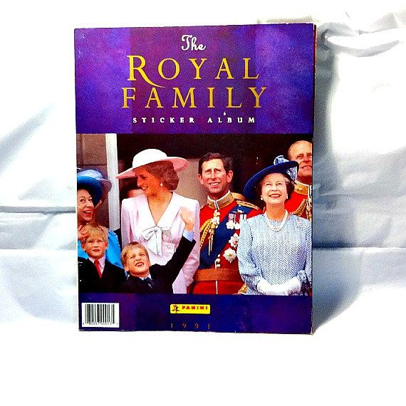 The Royal Family sticker album, produced by Panini in 1991.