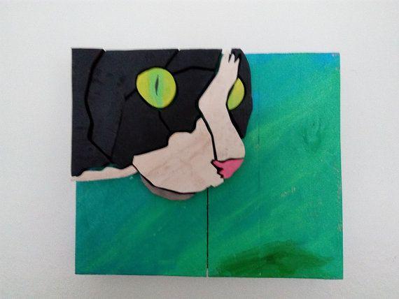 Cat - Wood Picture