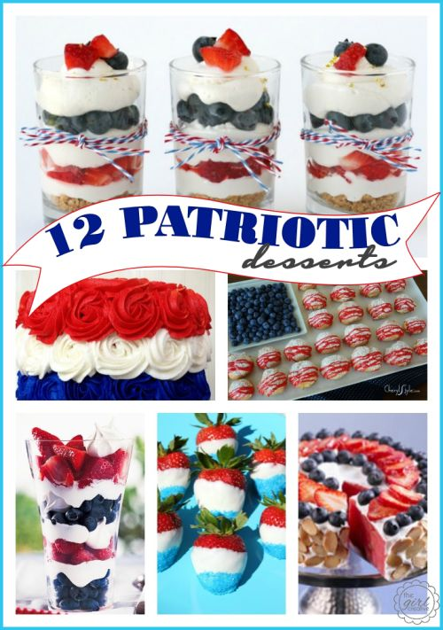 Patriotic Desserts for Memorial Day and 4th of July