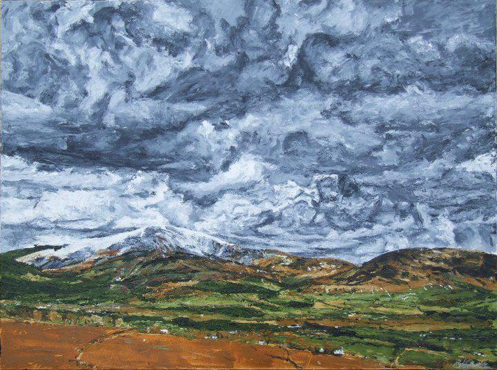 "'Mt. Leinster', 30""x40"" acrylic on canvas, by Bob Gravenor.  www.facebook.com/BobGravenorFineArt"