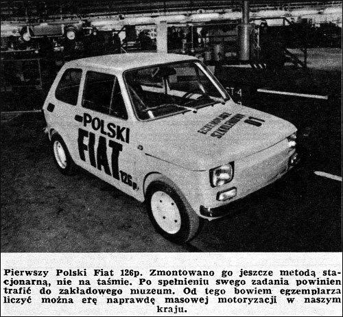 Pierwszy Fiat 126p
