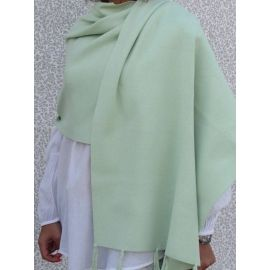 Knitted Shawl - Pistachio
