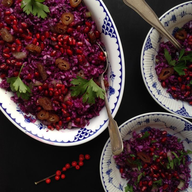 Julens salater: Rødkålssalat med vaniliedressing