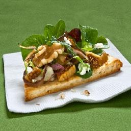 Pizza w/ California Walnuts, Fresh Figs & Goat Cheese