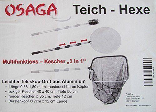 Kescher-Set Osaga Teich-Hexe 3 in 1 Kescher-Set