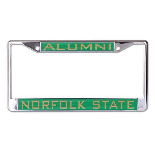 Norfolk State Spartans License Plate Frame - Inlaid - Alumni