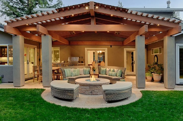 Covered patio ideas patio contemporary with wood patio wood deck ...