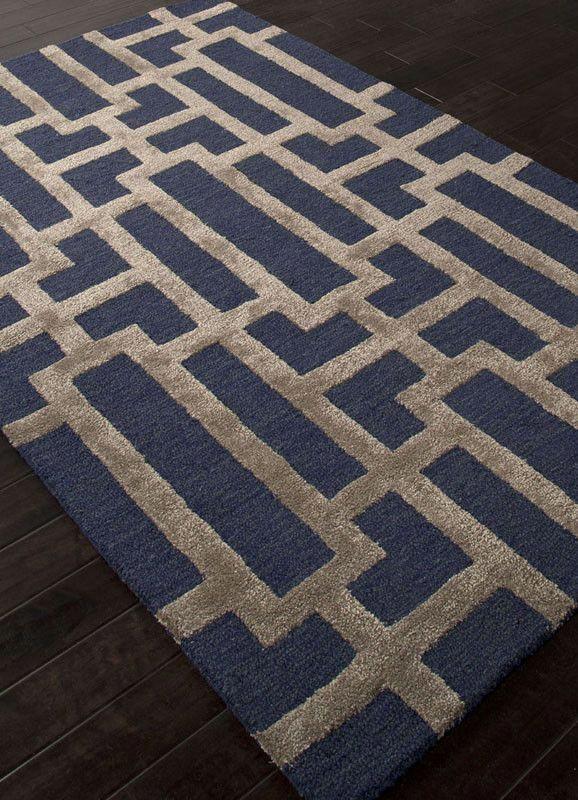 Jaipur Rugs Rug109727 Hand Tufted Geometric Pattern Wool Art Silk