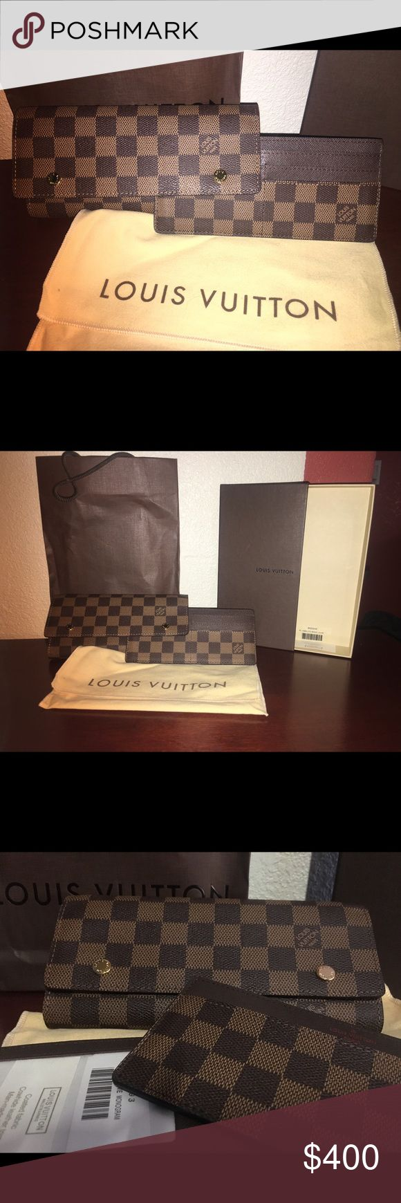 ⭐️ Louis Vuitton⭐️ woman's checkered wallet 100% Authentic Louis Vuitton woman's wallet! Never been used still has box and bags. If you have any questions please ask. Louis Vuitton Bags Wallets