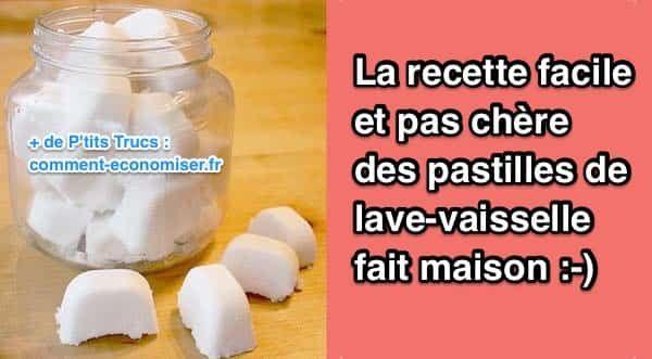 Avec cette recette facile et pas chère des pastilles lave-vaisselle maison, vous évitez d'exposer votre famille aux réels dangers des substances toxiques qui rentrent dans la composition des produits ménagers vendus dans le commerce !  Découvrez l'astuce ici : http://www.comment-economiser.fr/recette-facile-et-pas-chere-pastilles-fait-maison.html?utm_content=buffer3a653&utm_medium=social&utm_source=pinterest.com&utm_campaign=buffer