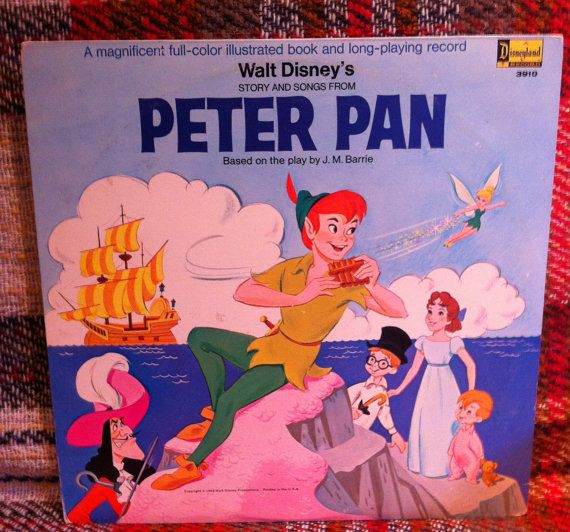 Peter Pan Disneyland Records LP and Storybook by chezToulouse