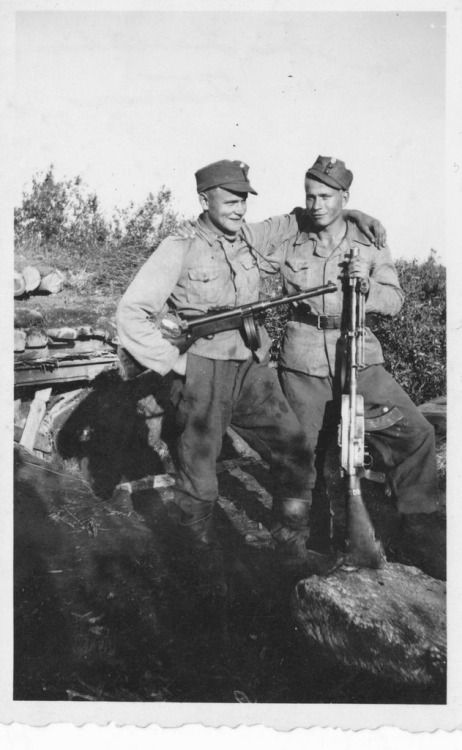 Brothers in Arms. Finnish soldiers at the Carelian front 1942.