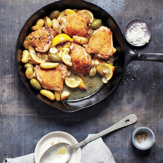 Braised Chicken With Potatoes and Olives