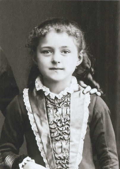 Photograph of St. Therese of Lisieux, as a child.