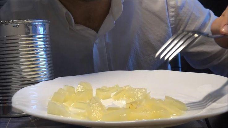 ASMR Juicy Pineapple Eating Sounds | No Talking