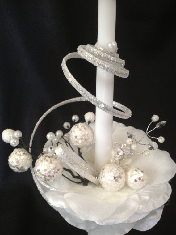 Aboona's pure white candle on Etsy, $25.00
