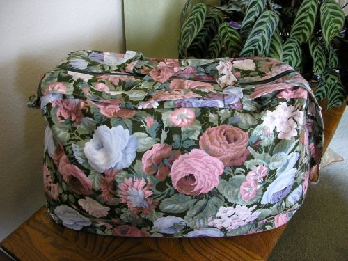 Cotton Weekend Bag Pink Flowers